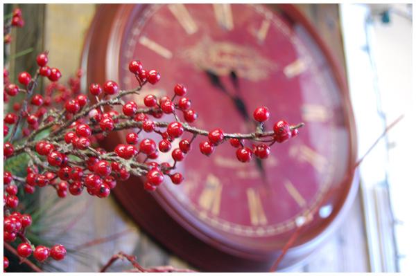 Blurred clock
