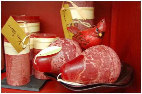 Cardinal and candles